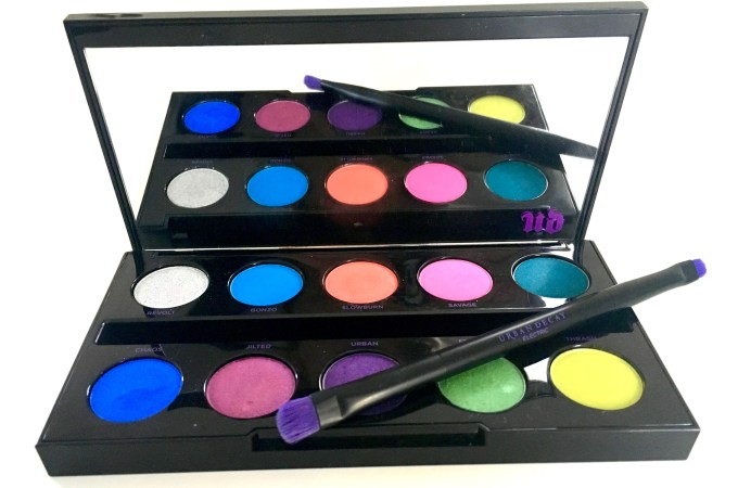 Urban Decay Electric Pressed Pigment Eyeshadow Palette Review Swatches
