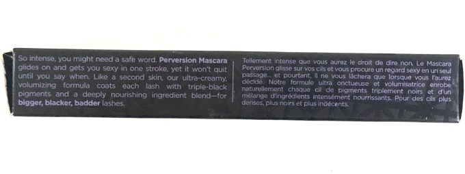 Urban Decay Perversion Mascara Review Description