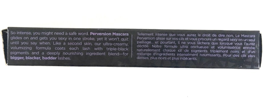 Urban Decay Perversion Mascara Review Description