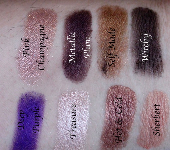 Anastasia Beverly Hills Self Made EyeShadow Palette Review, Swatches Left