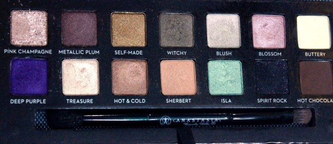 Anastasia Beverly Hills Self Made EyeShadow Palette Review, Swatches focus closeup