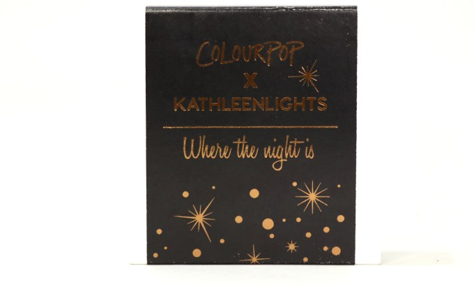 ColourPop KathleenLights Where The Night Is Super Shock Shadow Set Review, Swatches front