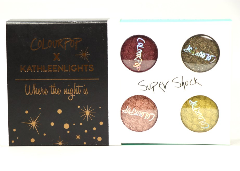 ColourPop KathleenLights Where The Night Is Super Shock Shadow Set Review, Swatches