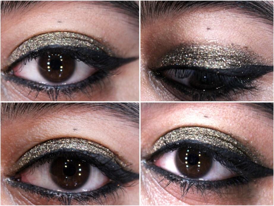 Makeup Geek Utopia Pigment Review, Swatches MBF Eye makeup Look