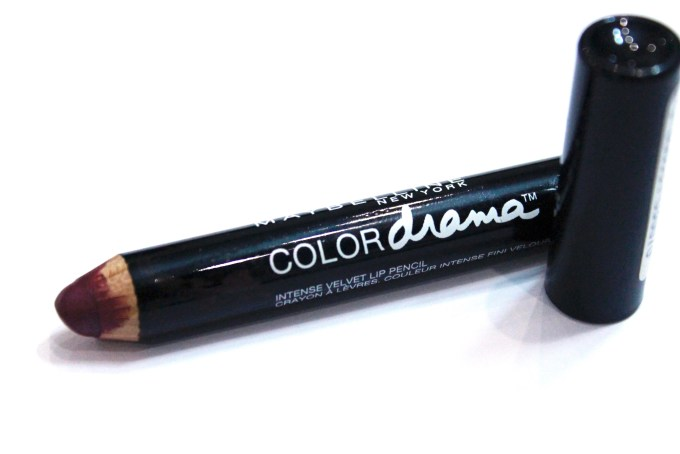 Maybelline Color Drama Intense Velvet Lip Pencil Berry Much Review, Swatches 9