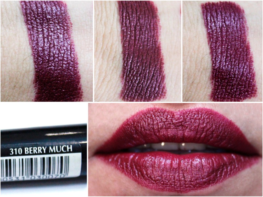 Maybelline Color Drama Intense Velvet Lip Pencil Berry Much Review, Swatches MBF Blog