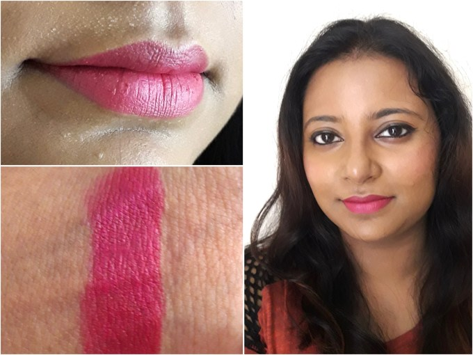 Maybelline Creamy Matte Lipstick Mesmerizing Magenta Review, Swatches MBF Makeup Look