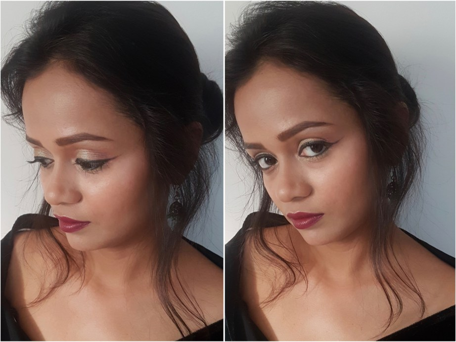Lakme Absolute Argan Oil Lip Color Juicy Plum Review, Swatches Glam MBF Makeup Look