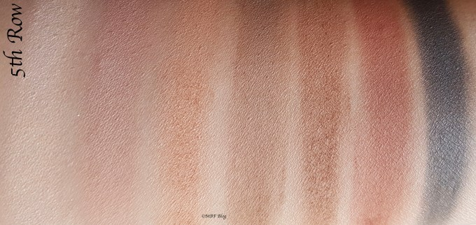 Morphe 35F Fall Into Frost Palette Review, Swatches 5th Row