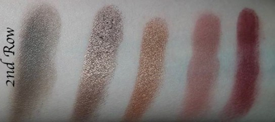 Morphe Kathleen Lights Eyeshadow Palette Review, Swatches 2 row