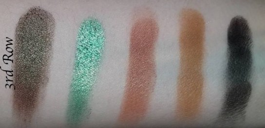 Morphe Kathleen Lights Eyeshadow Palette Review, Swatches 3 row
