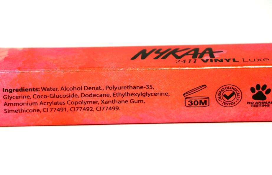 Nykaa 24Hrs Vinyl Luxe Eyeliner Black Granite Review, Swatches Ingredients