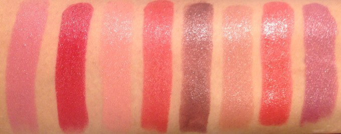 All Lakme Absolute Argan Oil Lip Color Lipsticks 15 Shades Review, Swatches Soft Mauve, Crimson Silk, Soft Nude, Ruby Velvet, Deep Brown, Buttery Caramel, Drenched Red, Soaked Berries