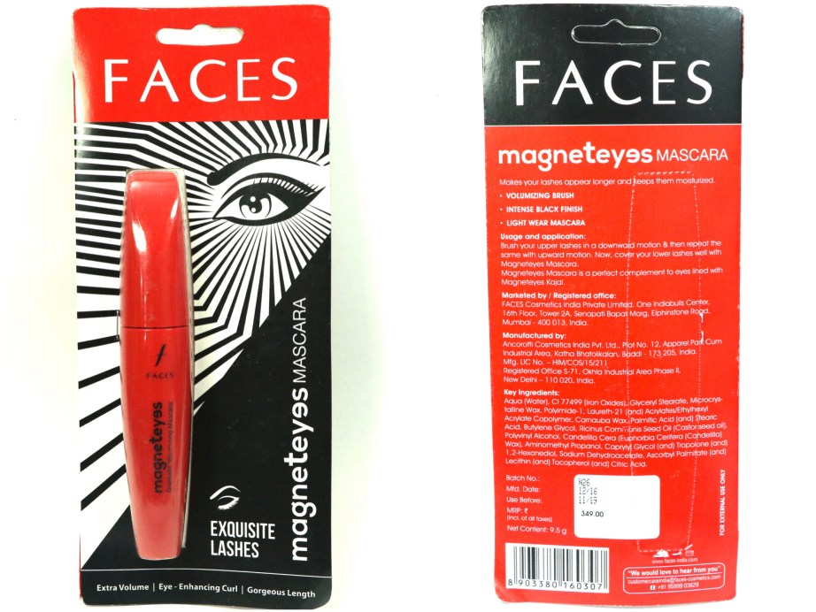 Faces MagnetEyes Mascara Review, Swatches, Demo Blog MBF