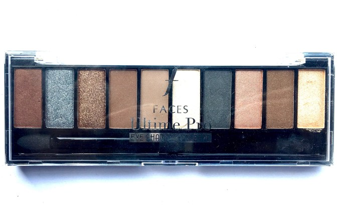 Faces Ultime Pro Eyeshadow Palette Nude Review, Swatches MBF Blog