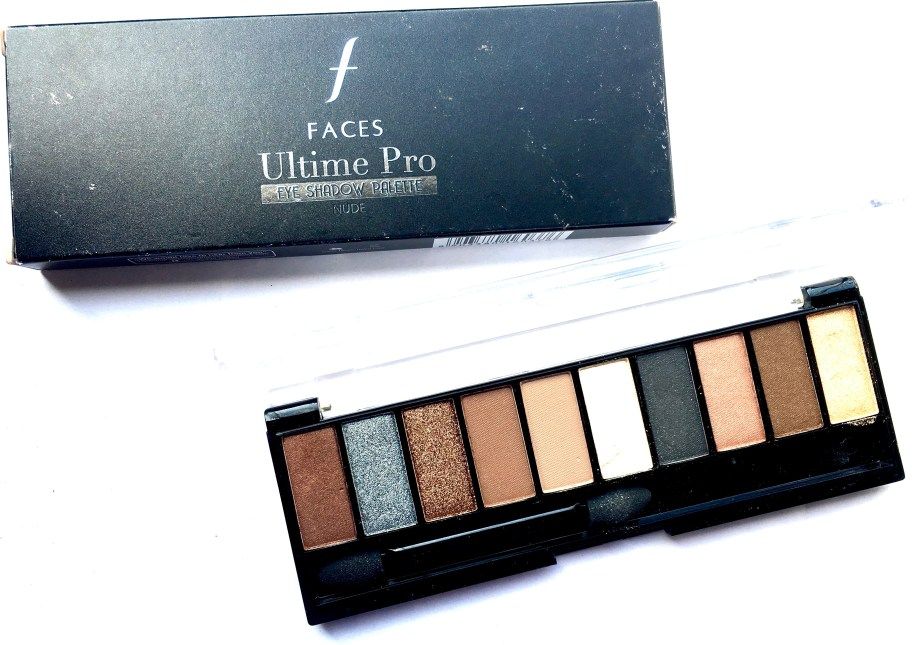Faces Ultime Pro Eyeshadow Palette Nude Review, Swatches