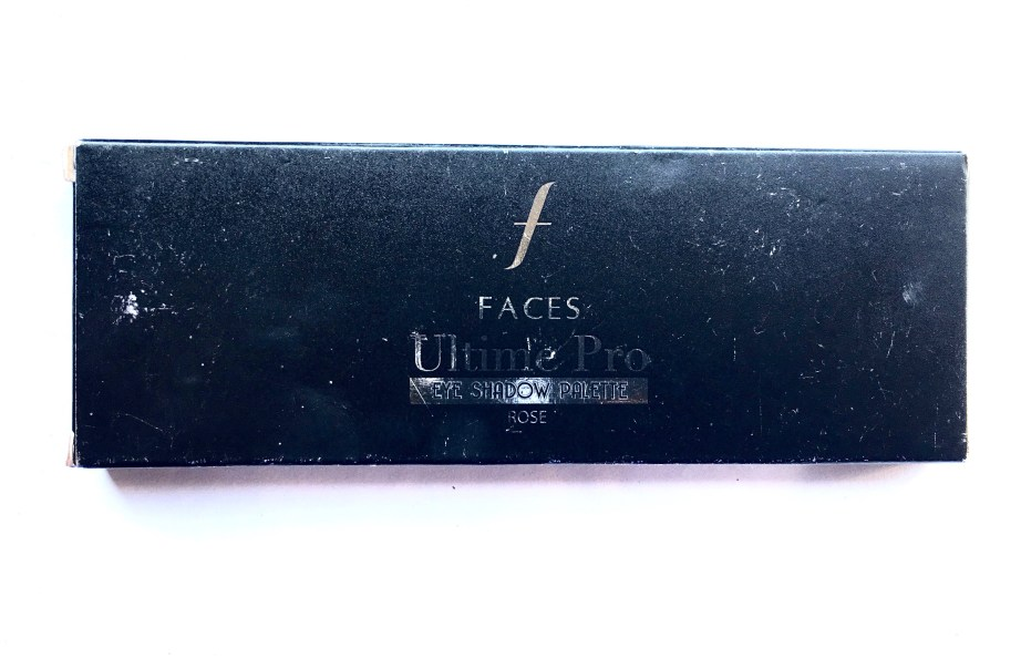 Faces Ultime Pro Eyeshadow Palette Rose Review, Swatches Box front