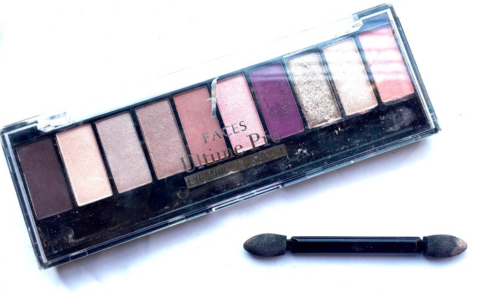Faces Ultime Pro Eyeshadow Palette Rose Review, Swatches Indian Makeup Blog