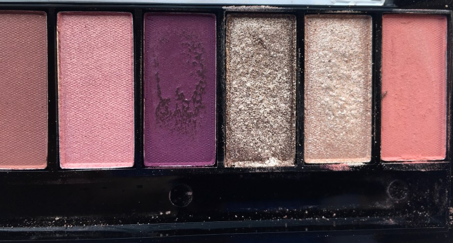 Faces Ultime Pro Eyeshadow Palette Rose Review, Swatches Right