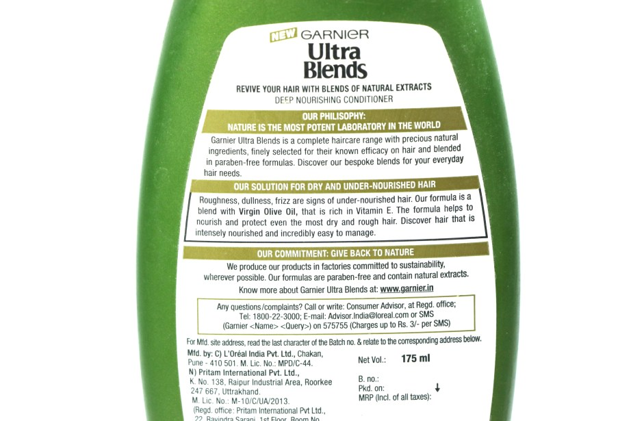 Garnier Ultra Blends Mythic Olive Conditioner Review Info