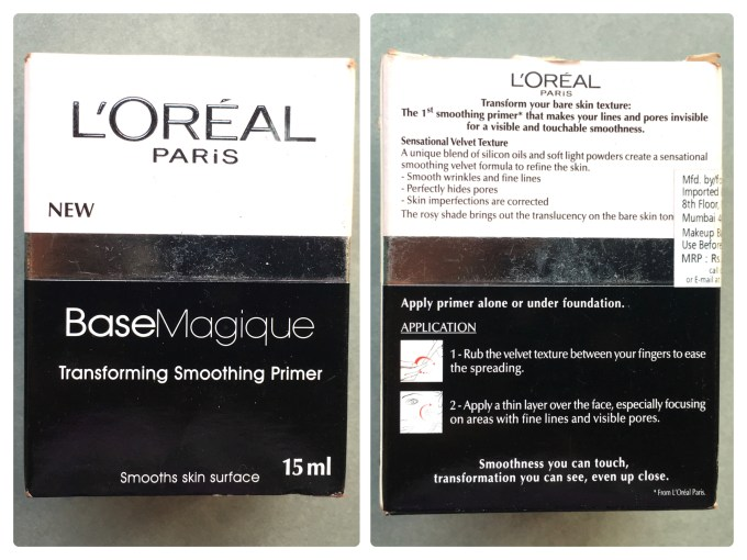 L'Oreal Base Magique Transforming Smoothing Primer Review, Swatches box