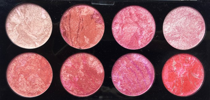 Makeup Revolution Blush Palette Blush Queen Review, Swatches Closeup