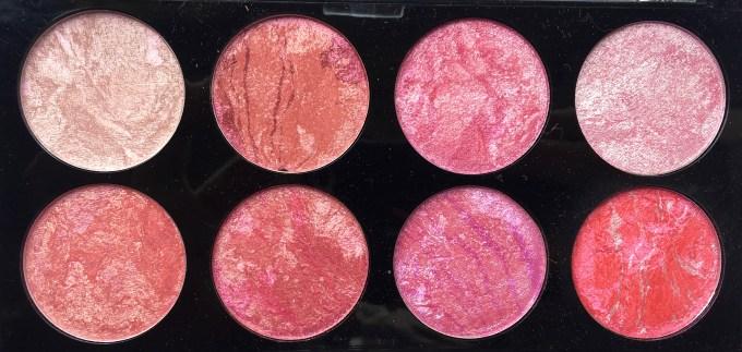 Makeup Revolution Blush Palette Blush Queen Review, Swatches Closeup
