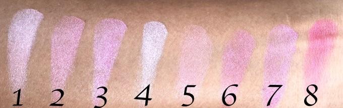 Makeup Revolution Blush Palette Blush Queen Review, Swatches skin