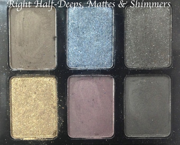 Maybelline The Rock Nudes Eye Shadow Palette Review, Swatches Right Half