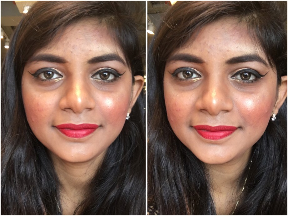 Nykaa Matteilicious Lip Crayon Hot As Red Review, Swatches MBF Makeup Look