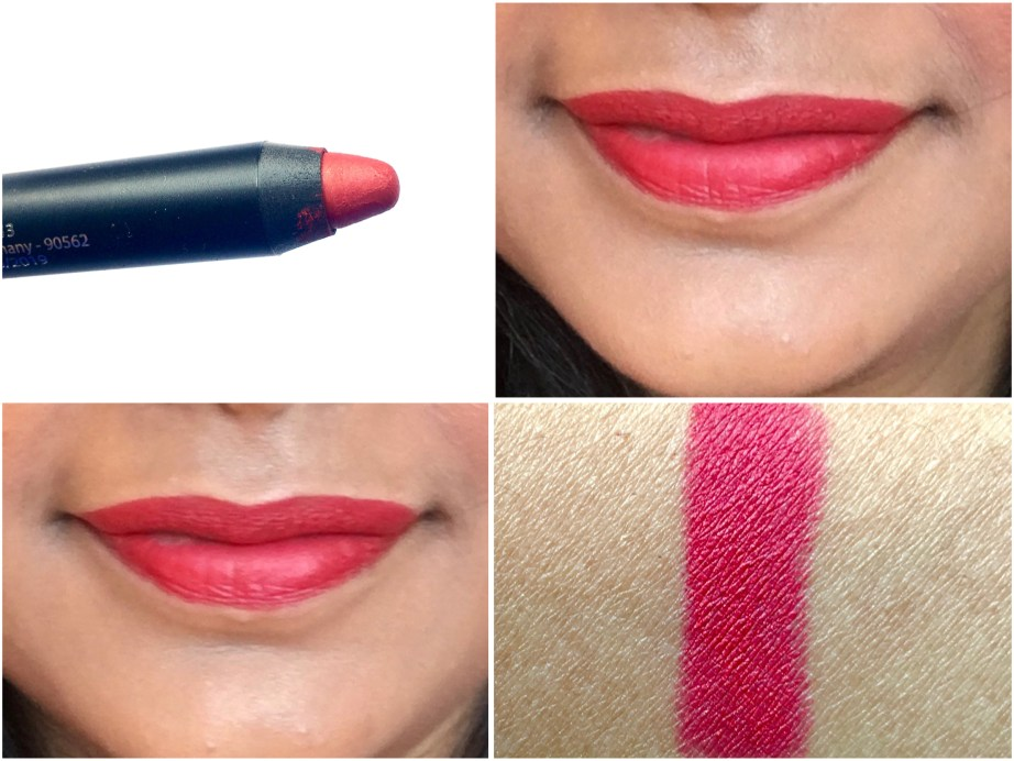 Nykaa Matteilicious Lip Crayon Hot As Red Review, Swatches on Lips