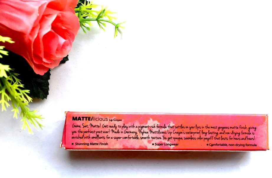 Nykaa Matteilicious Lip Crayon Perfect Plum Review, Swatches Info