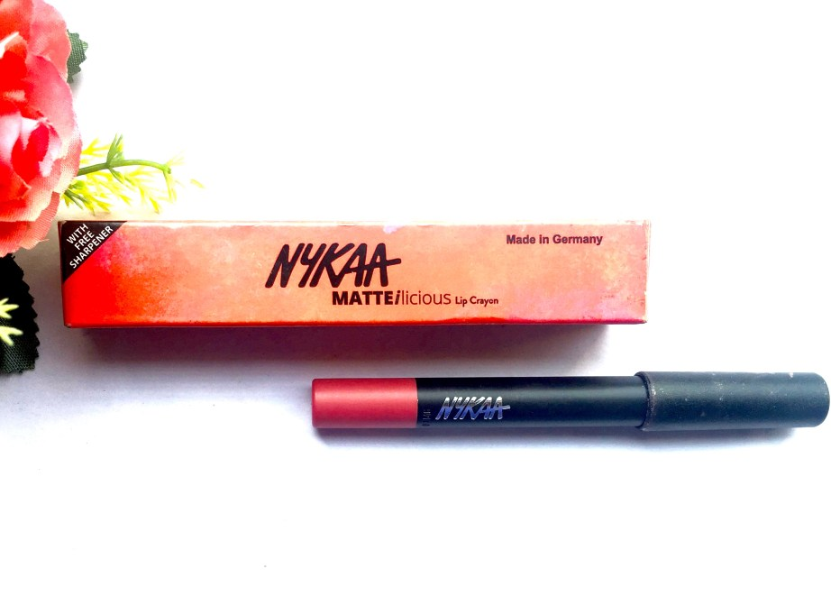 Nykaa Matteilicious Lip Crayon Pink On Fleek Review, Swatches Blog MBF