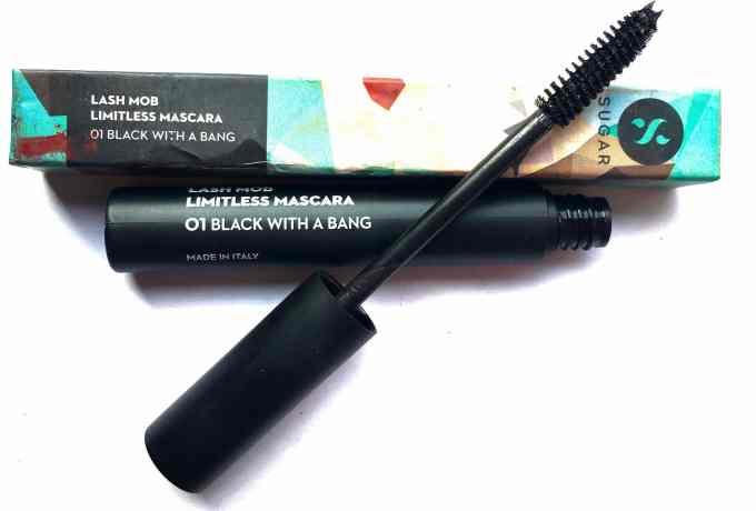 SUGAR Lash Mob Limitless Mascara Black With A Bang Review, Swatches MBF Beauty Blog