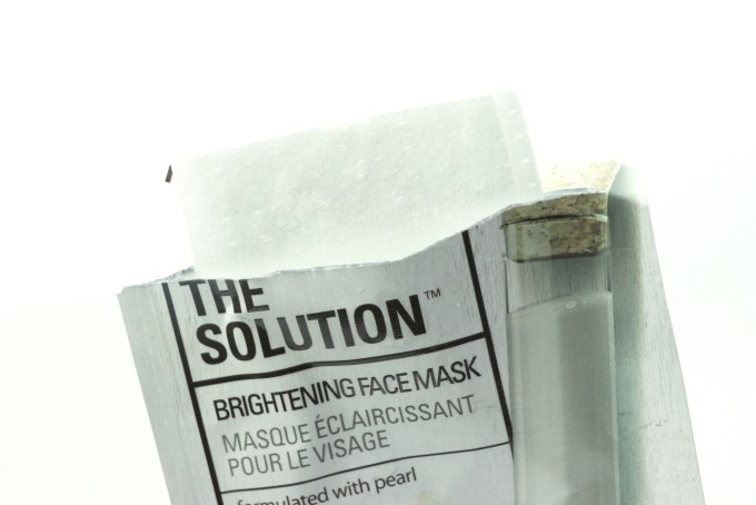 The Face Shop The Solution Brightening Face Mask Review Packet