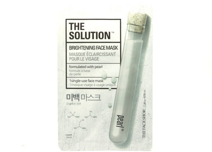 The Face Shop The Solution Brightening Face Mask Review