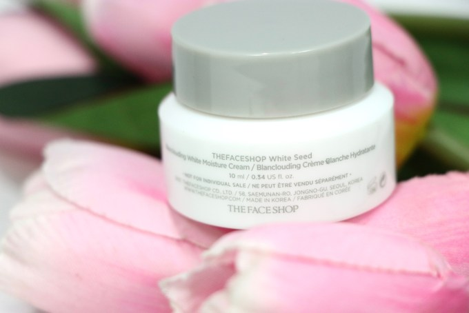 The Face Shop White Seed Blanclouding White Moisture Cream Review Back