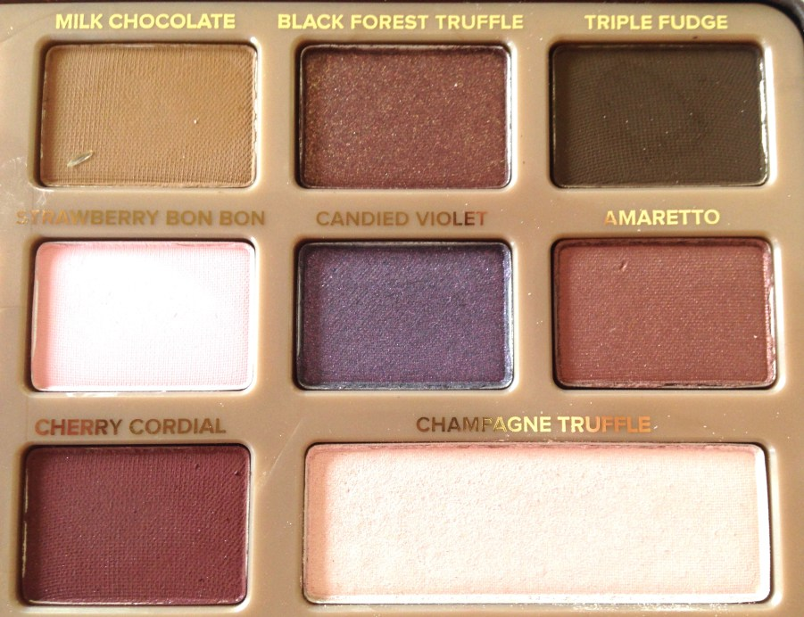 Too Faced Chocolate Bar Eyeshadow Palette Review, Swatches Right Half
