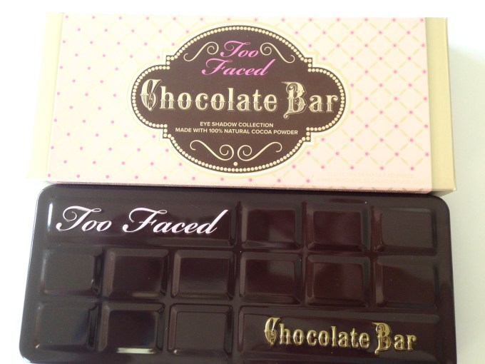 Too Faced Chocolate Bar Eyeshadow Palette Review, Swatches front