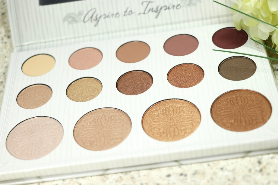 BH Cosmetics Carli Bybel Eyeshadow & Highlighter Palette Review, Swatches Aspire to Inspire