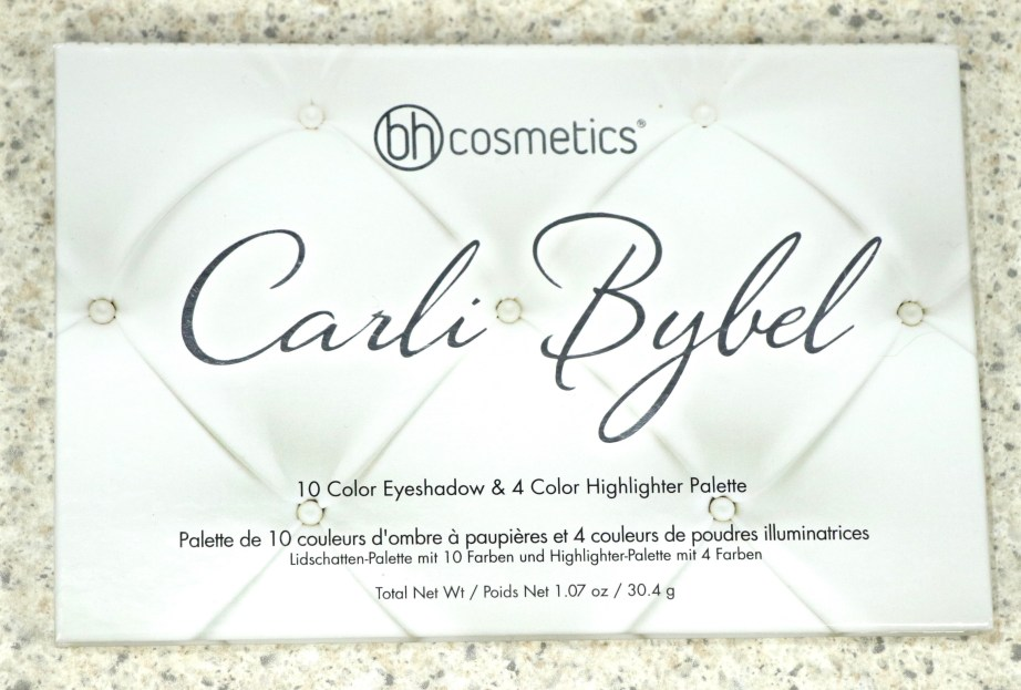 BH Cosmetics Carli Bybel Eyeshadow & Highlighter Palette Review, Swatches front