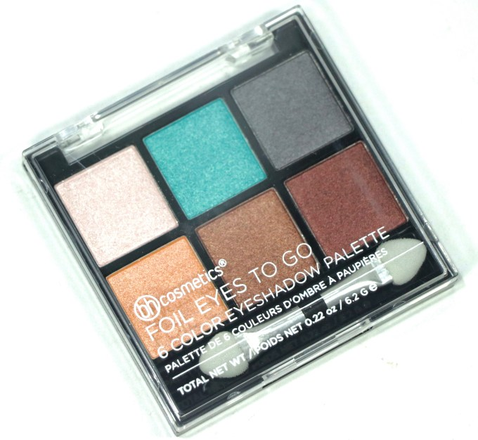 BH Cosmetics Foil Eyes To Go 6 Color Eyeshadow Palette Review, Swatches