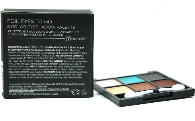 BH Cosmetics Foil Eyes To Go Eyeshadow Palette Review, Swatches Info