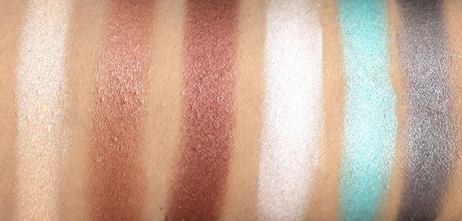 BH Cosmetics Foil Eyes To Go Eyeshadow Palette Review, Swatches Skin