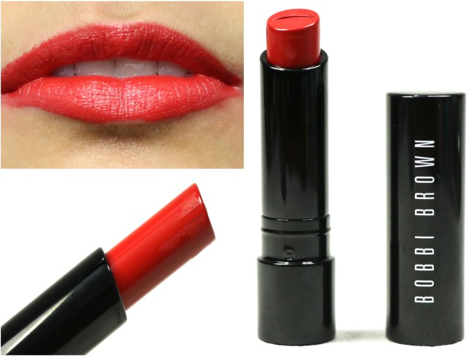 Bobbi Brown Creamy Matte Lip Color Red Carpet Review, Swatches