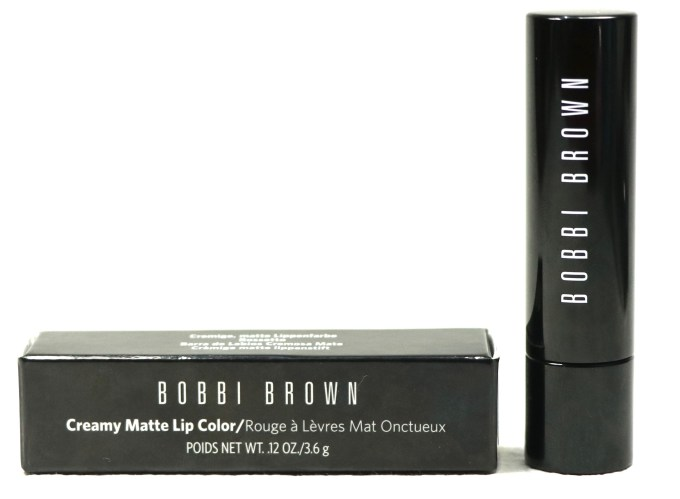 Bobbi Brown Creamy Matte Lip Color Red Carpet Review, Swatches packaging