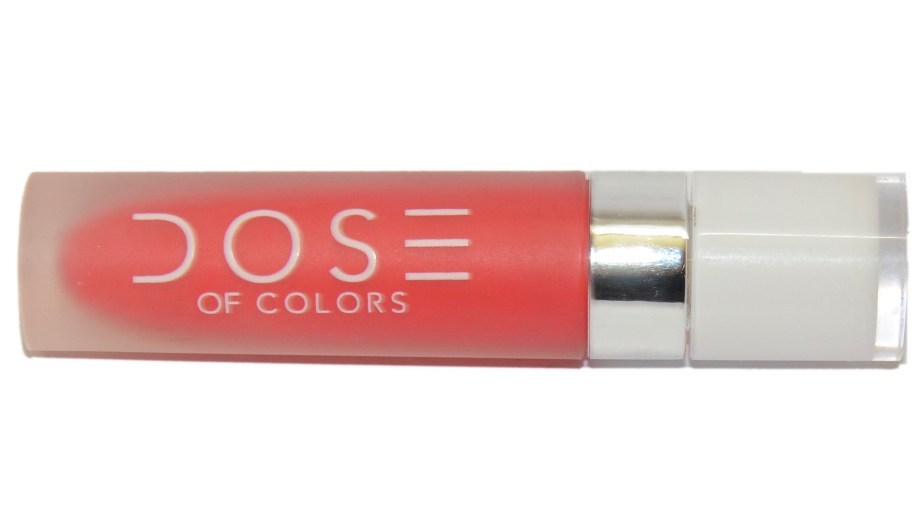 Dose of Colors Matte Liquid Lipstick Coral Crush Review, Swatches 2