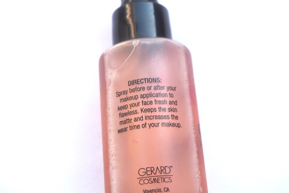 Gerard Cosmetics Slay All Day Makeup Setting Spray Review Directions