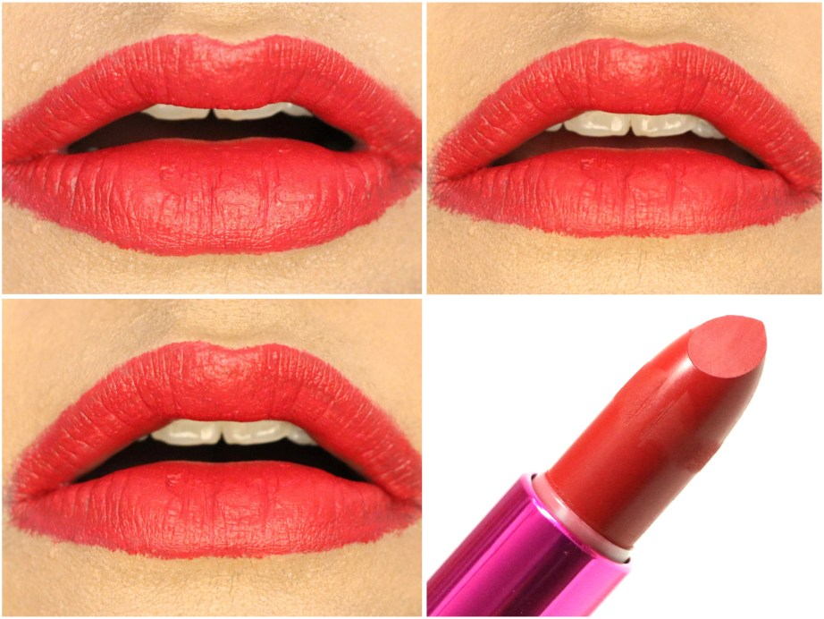 L'Oreal Paris Rouge Magique Lipstick Scarlet Déjà vu 911 Review, Swatches On Lips