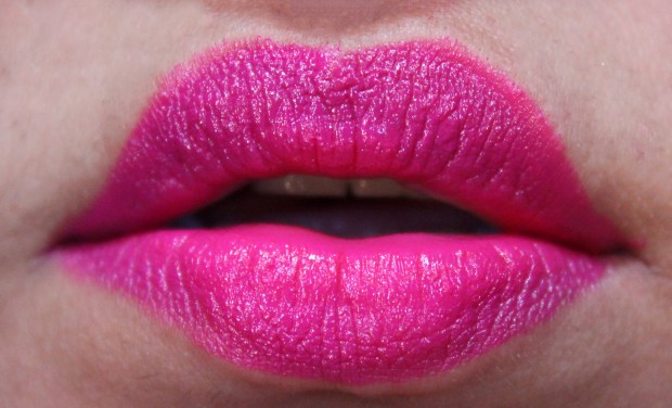 Make Up For Ever Rouge Artist Intense Lipstick 36 Review, Swatches Bright Pink Lipstick